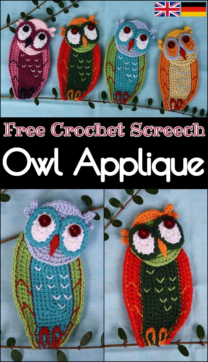 Free Crochet Screech Owl Applique
