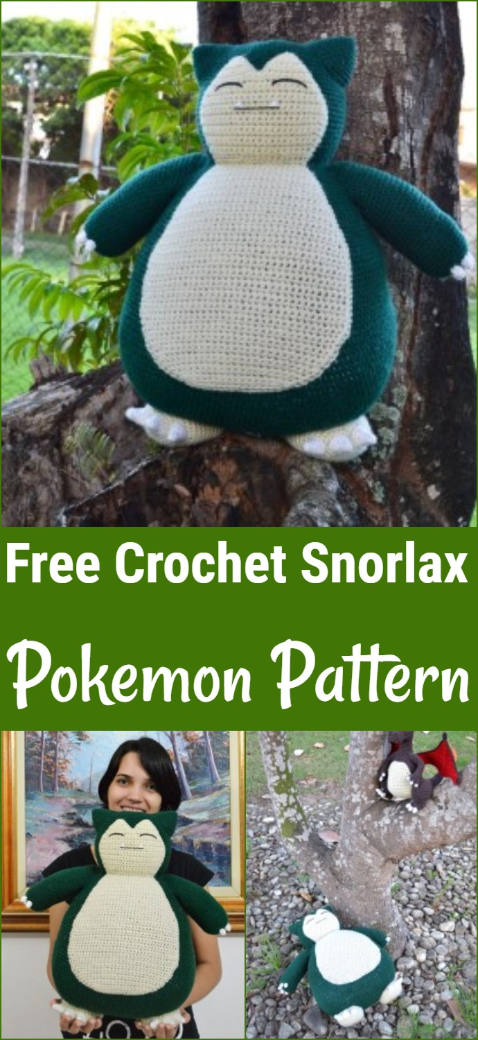 Free Crochet Snorlax Pokemon Pattern