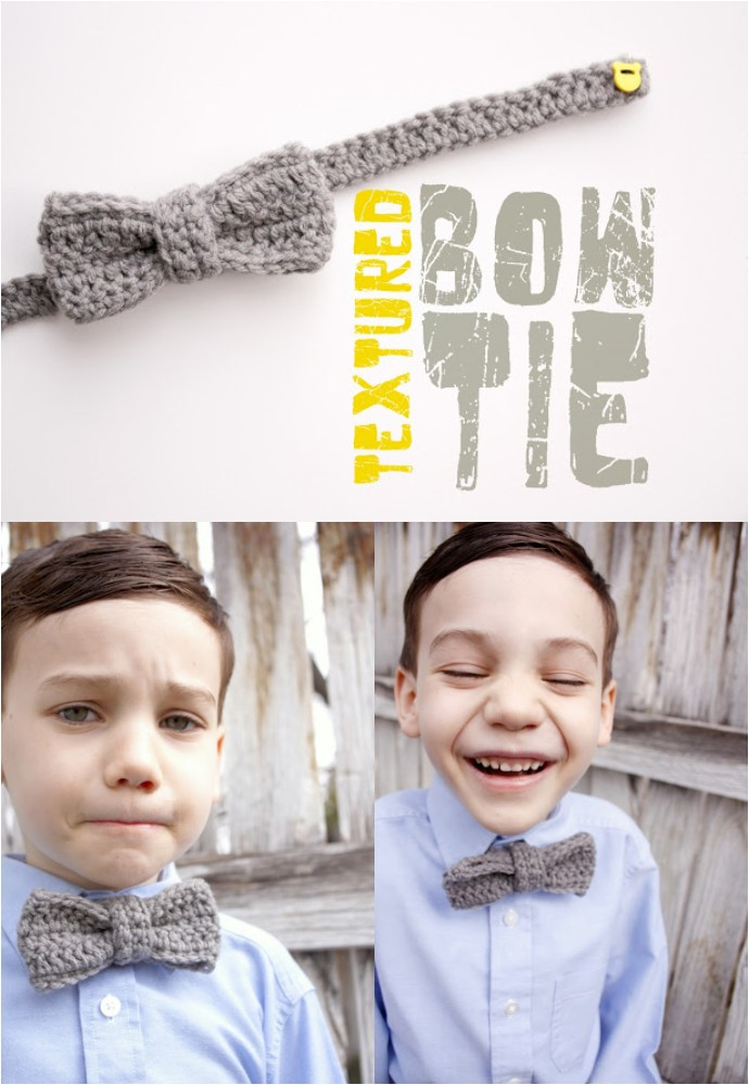 Free Crochet Textured Bow Tie