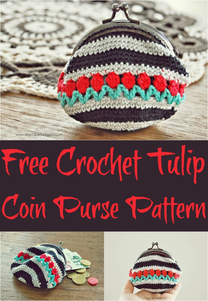 Free Crochet Tulip Coin Purse Pattern