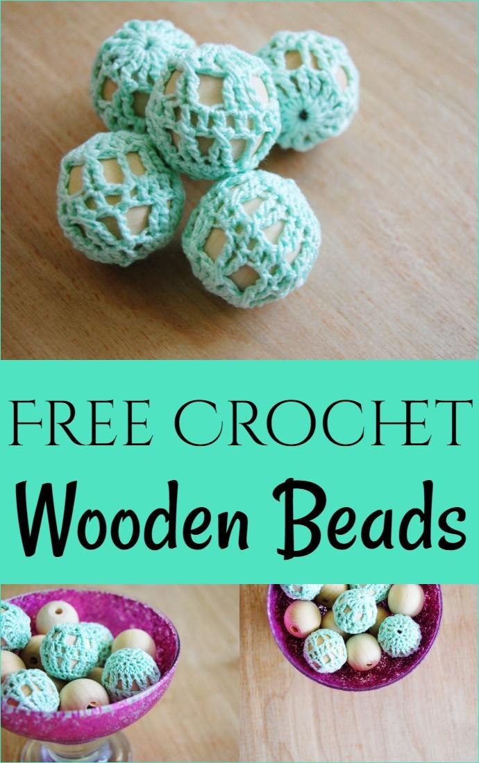 Free Crochet Wooden Beads