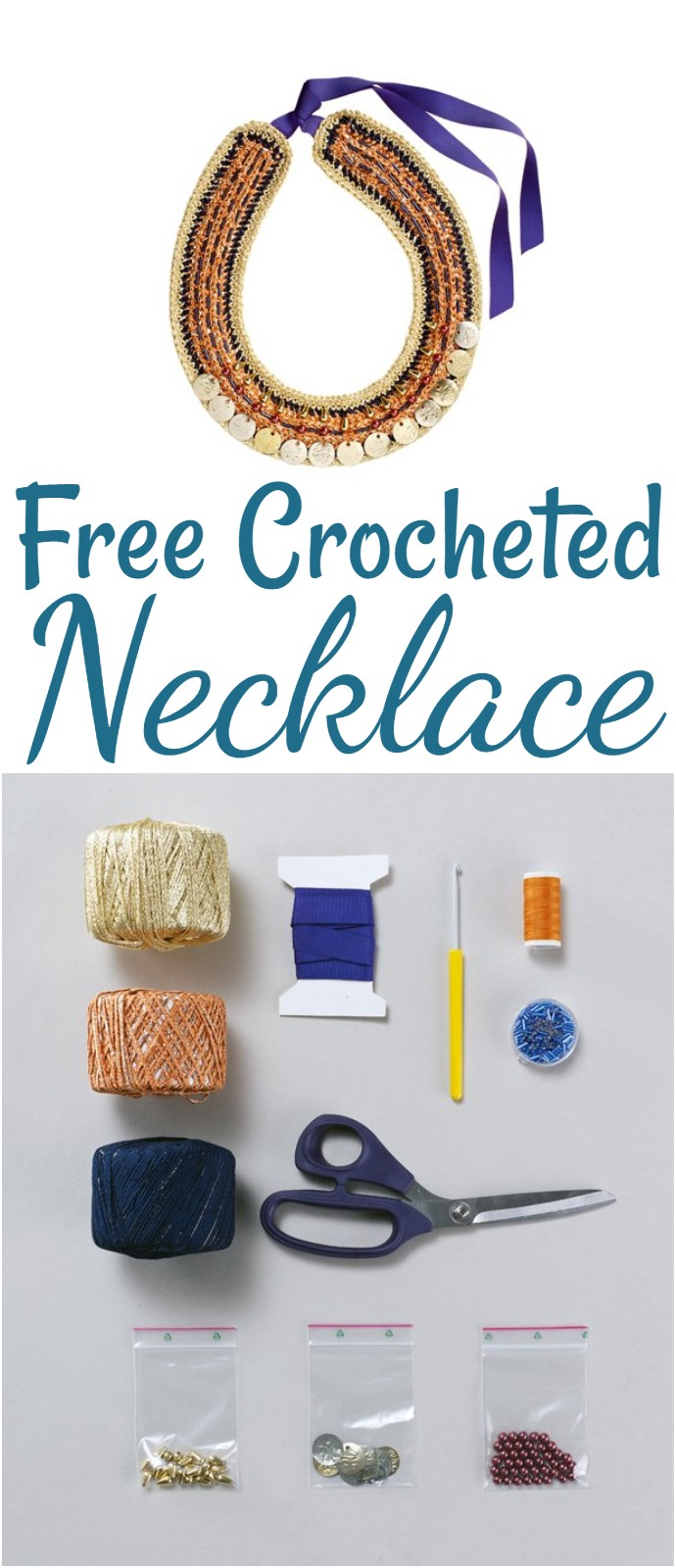 Free Crocheted Necklace