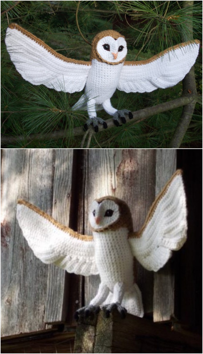 Large Free Crochet Barn Owl Pattern