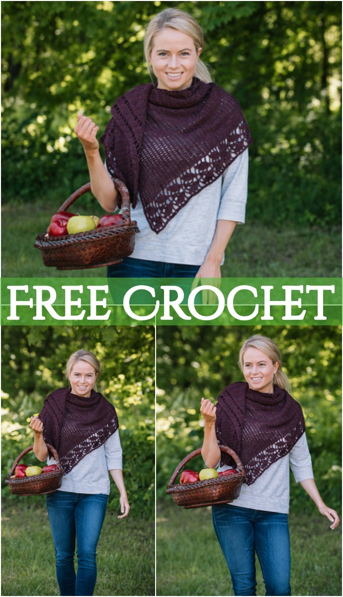 Leaf Shawl Free Crochet