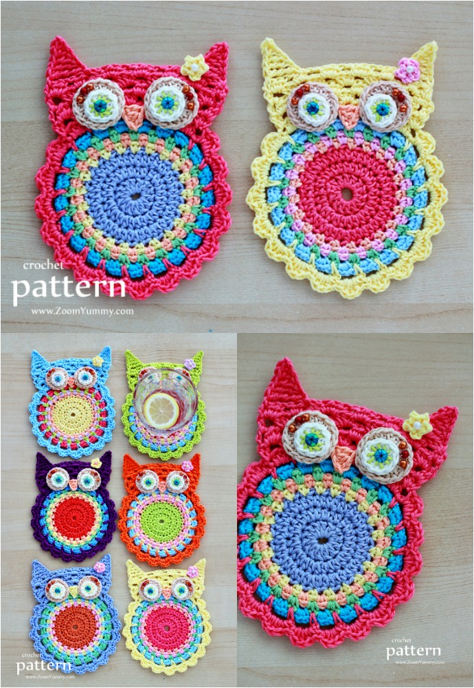 New Pattern Crochet Owl Coasters