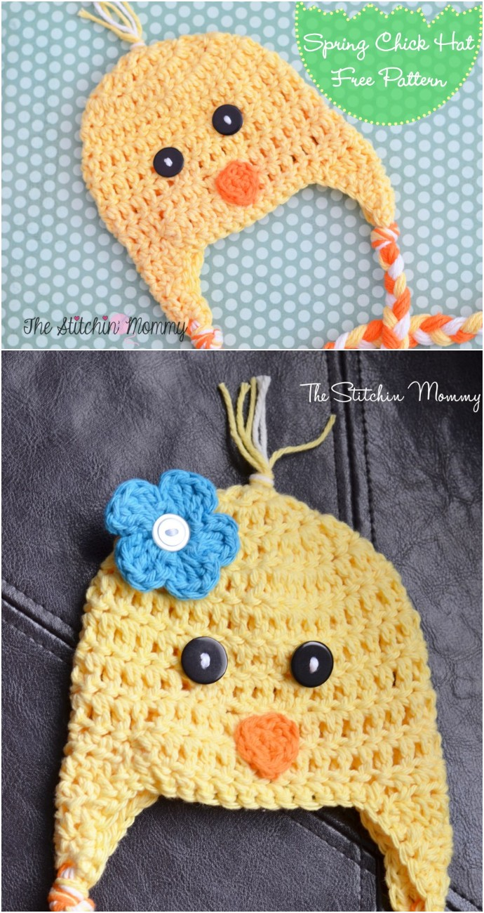 Pring Chick Hat Free Crochet Pattern