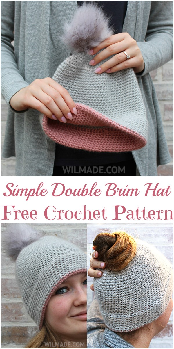 Simple Double Brim Hat