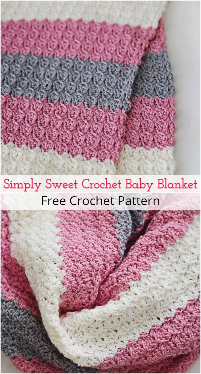 Simply Sweet Crochet Baby Blanket Pattern