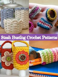 Crochet easy and fun projects by following these stash busting crochet patterns-Cozies, case patterns, headbands, and rings are the best way to create stash busting patterns.#stashbustingcrochetpatterns #stashbustingpatterns #stashbustingcrochetpatternsprojects