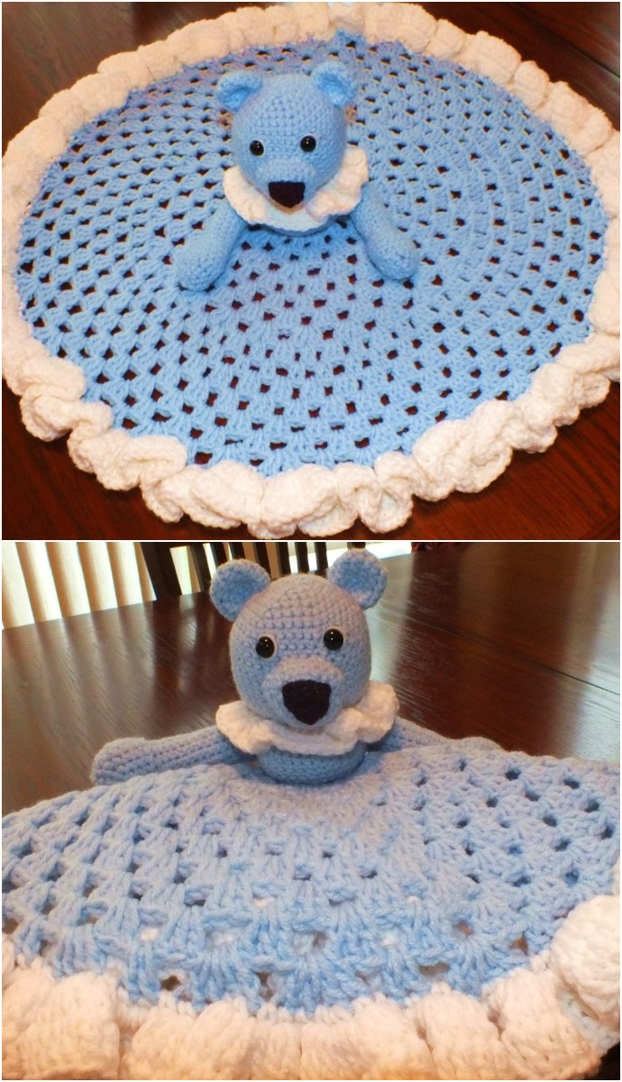 Teddy Bear Granny Circle Security Blanket
