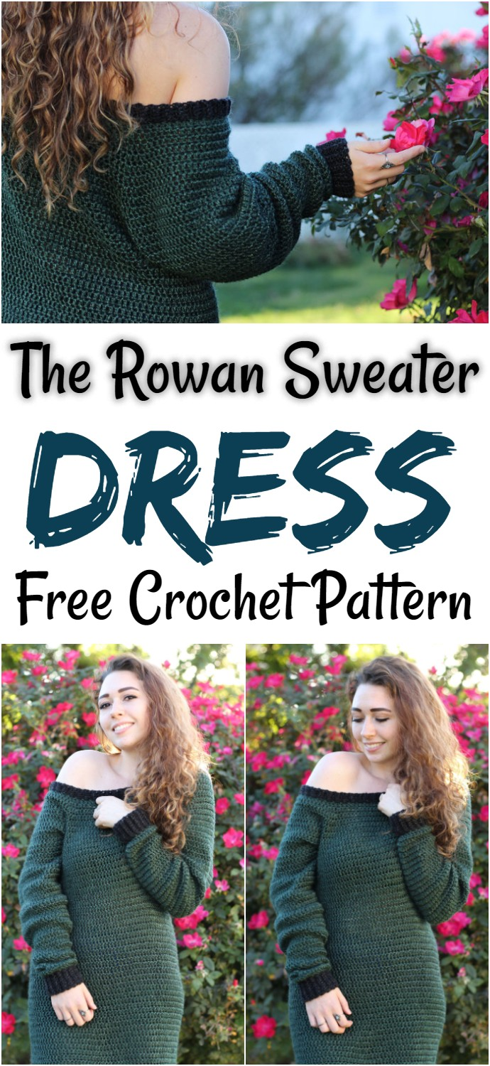 The Rowan Sweater Dress Free Crochet