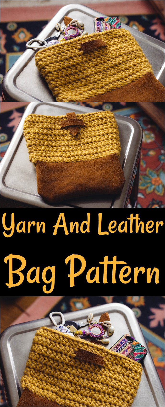 Yarn And Leather Bag Pattern