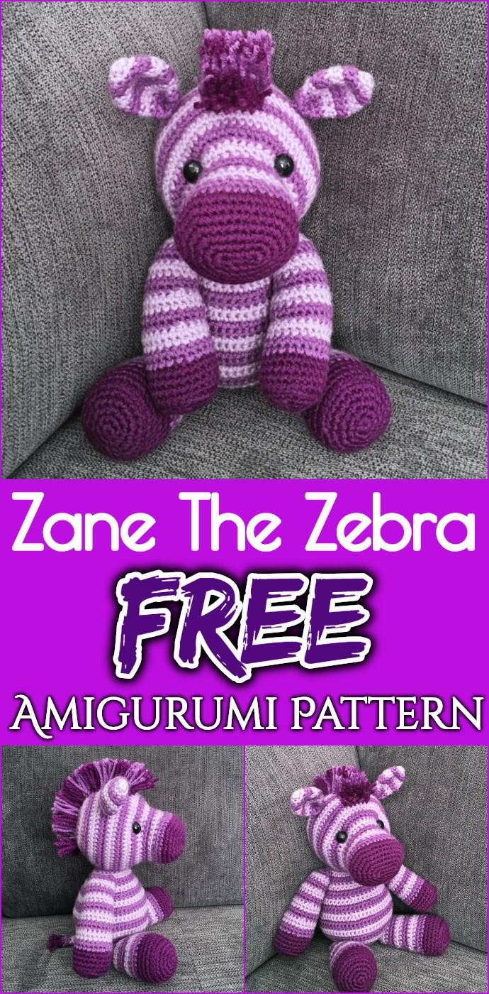 Zane The Zebra Free Amigurumi