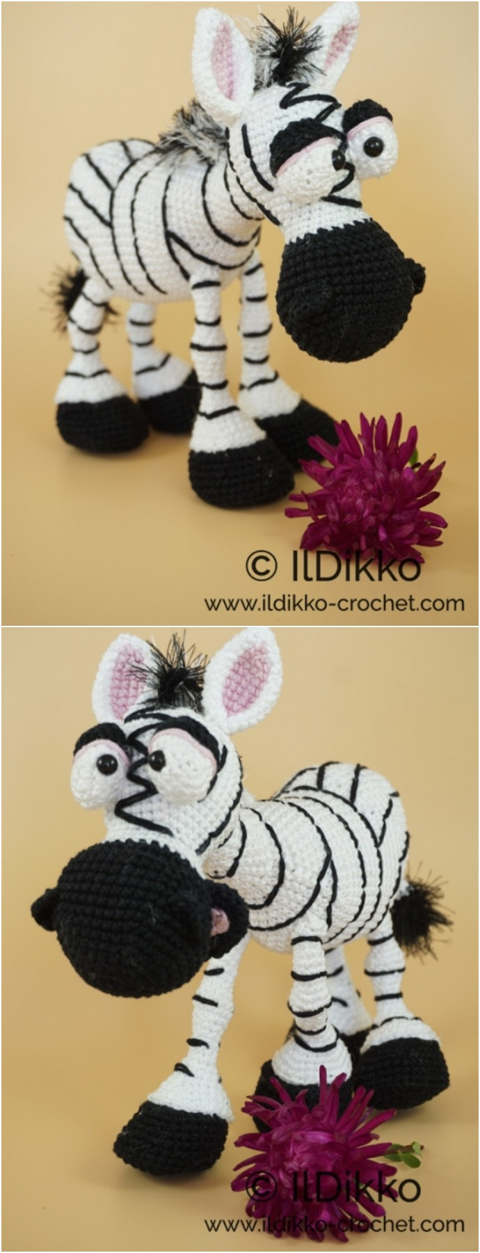 Zelda The Zebra Free Crochet