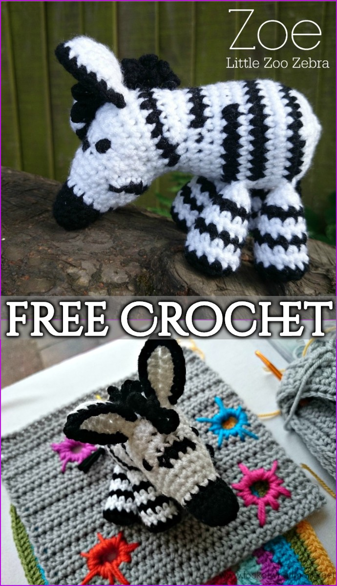 Zoe The Free Crochet Zebra