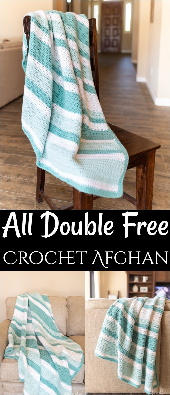 All Double Free Crochet Afghan
