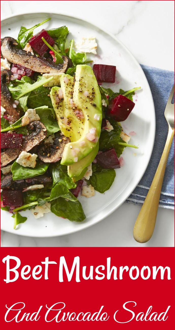 Beet Mushroom And Avocado Salad