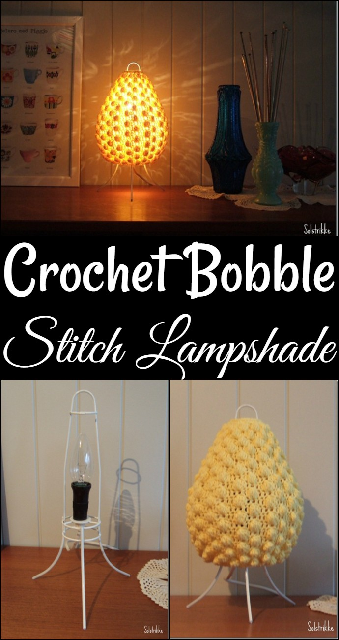 Crochet Bobble Stitch Lampshade