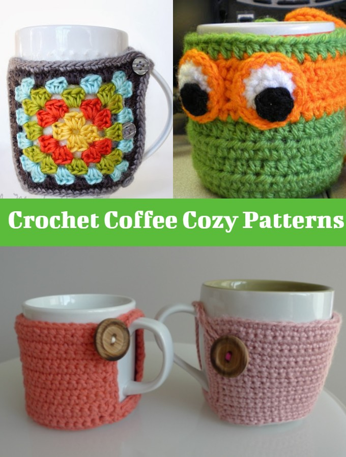 Crochet Coffee Cozy Patterns