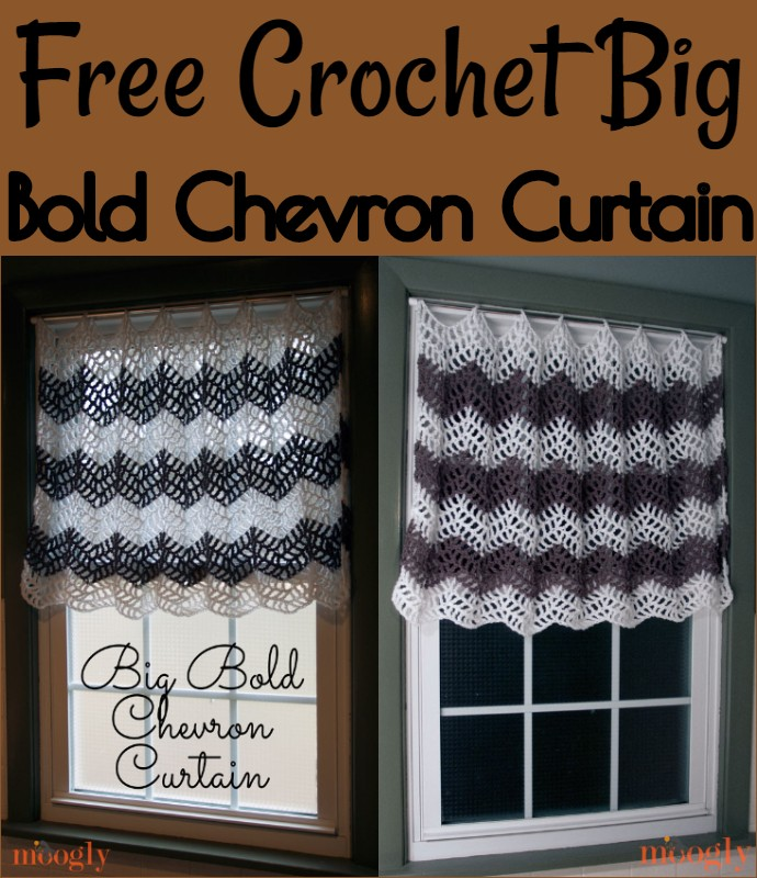 Free Crochet Big Bold Chevron Curtain