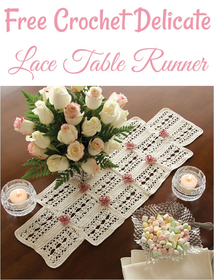 Free Crochet Delicate Lace Table Runner