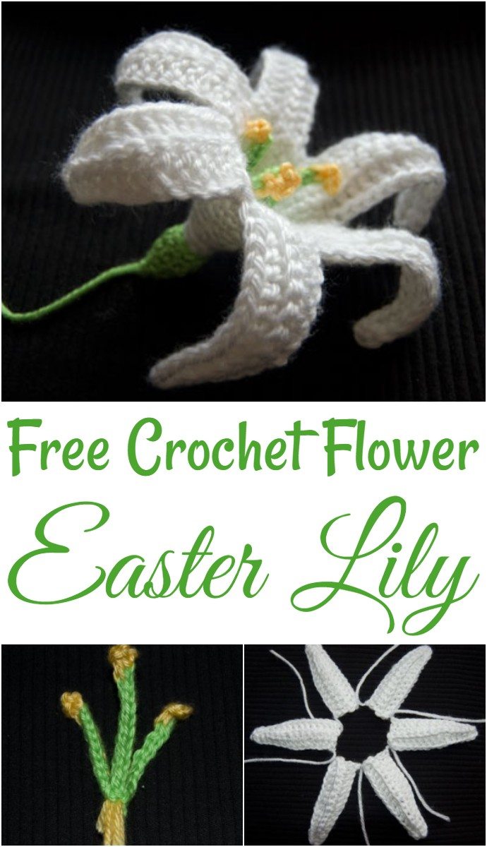 Free Crochet Flower Easter Lily