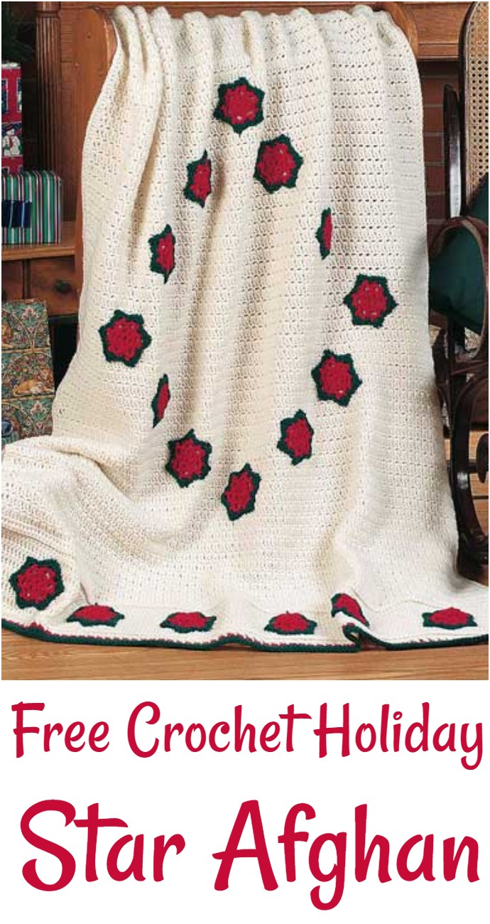 Free Crochet Holiday Star Afghan
