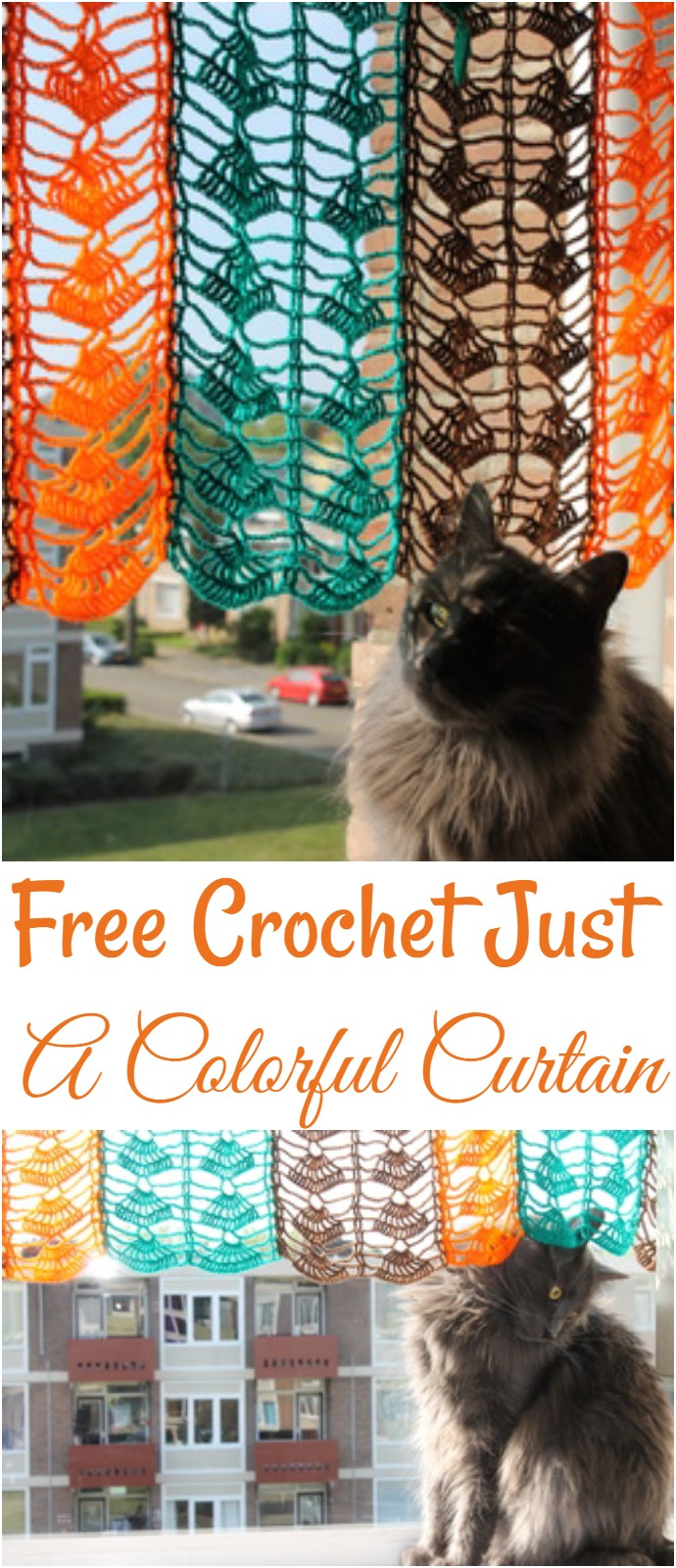 Free Crochet Just A Colorful Curtain