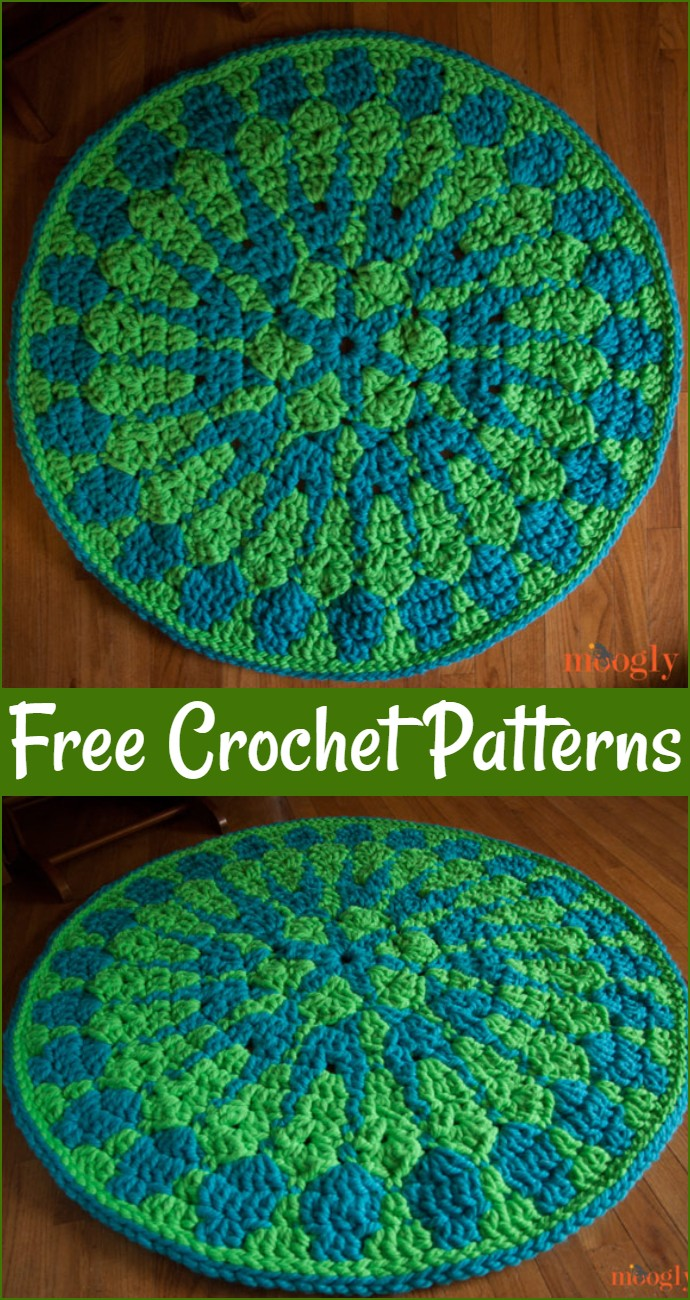Free Crochet Shocking Mandala Rug