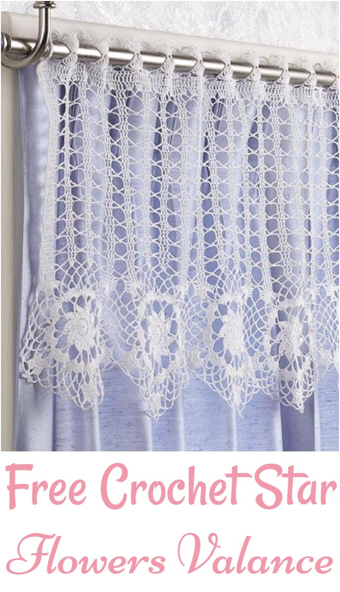 Free Crochet Star Flowers Valance