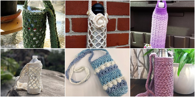 Free Crochet Water Bottle Holder Pattern 1