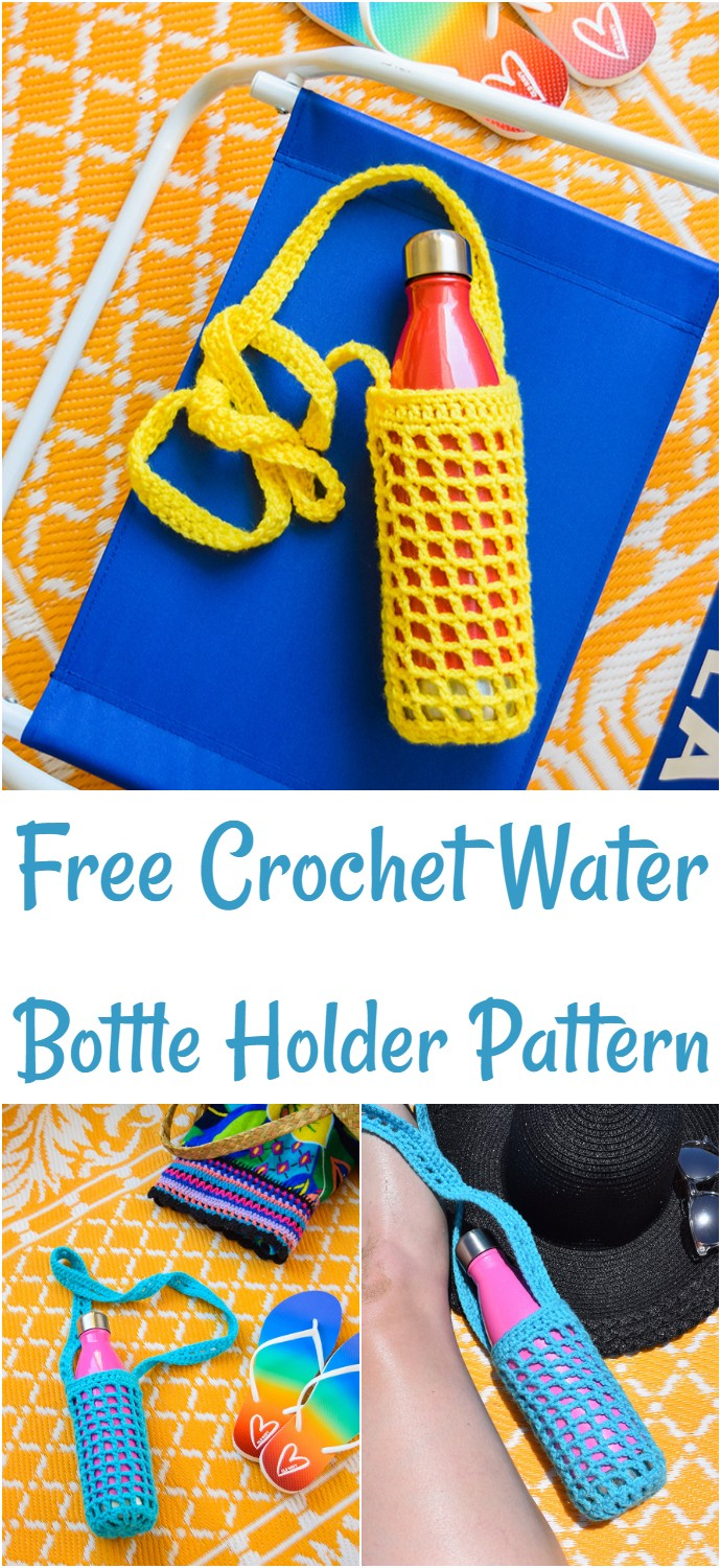 Free Crochet Water Bottle Holder Pattern