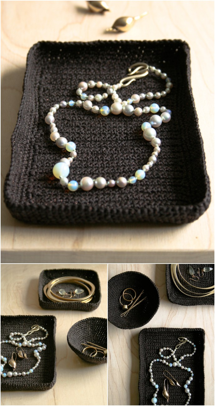 Free Crocheted Jewelry Dishes