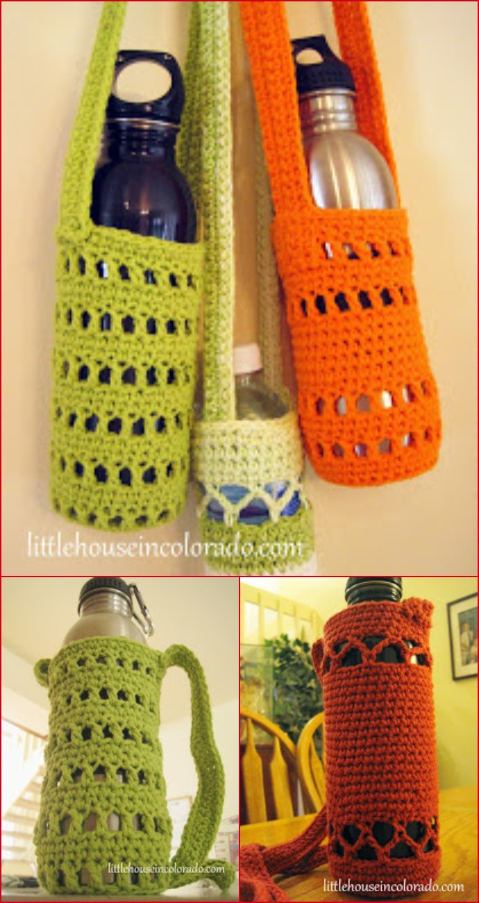 Pattern For Crochet Water Bottle Holders
