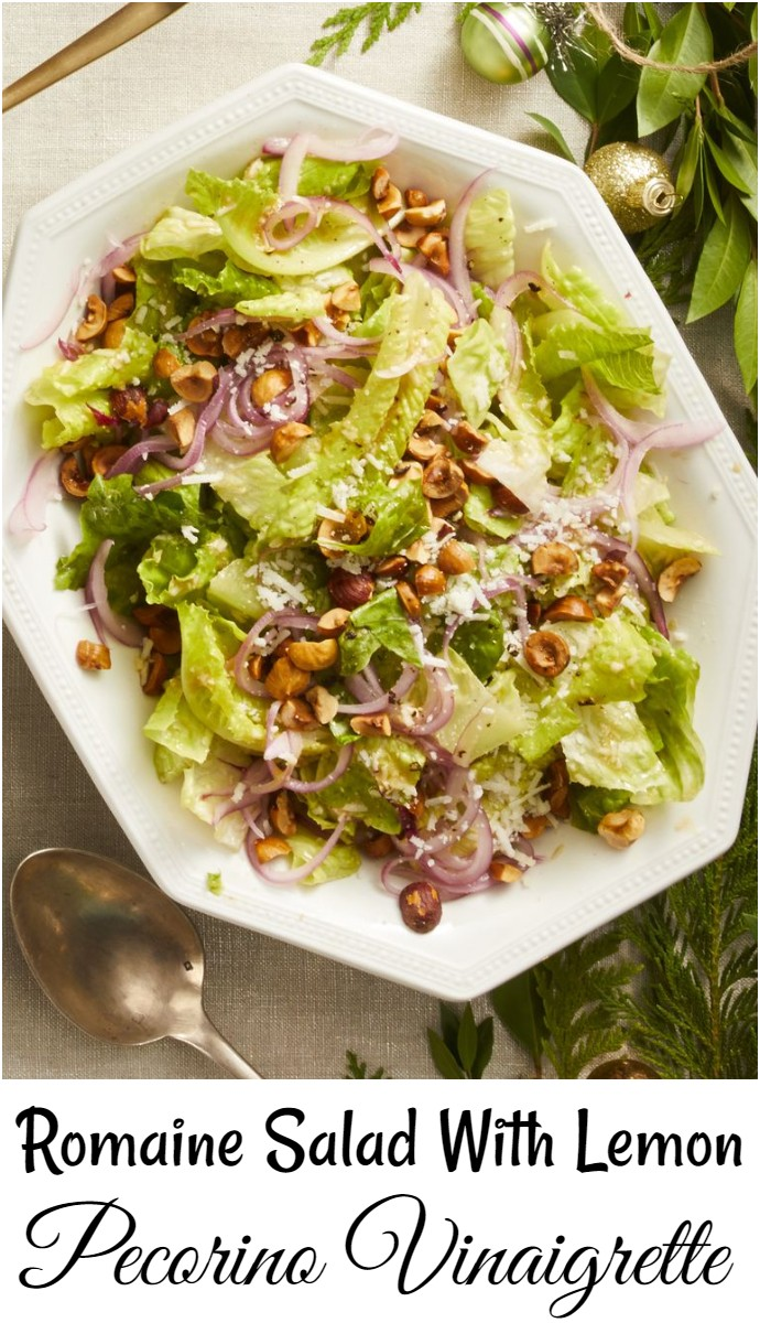 Romaine Salad With Lemon Pecorino Vinaigrette
