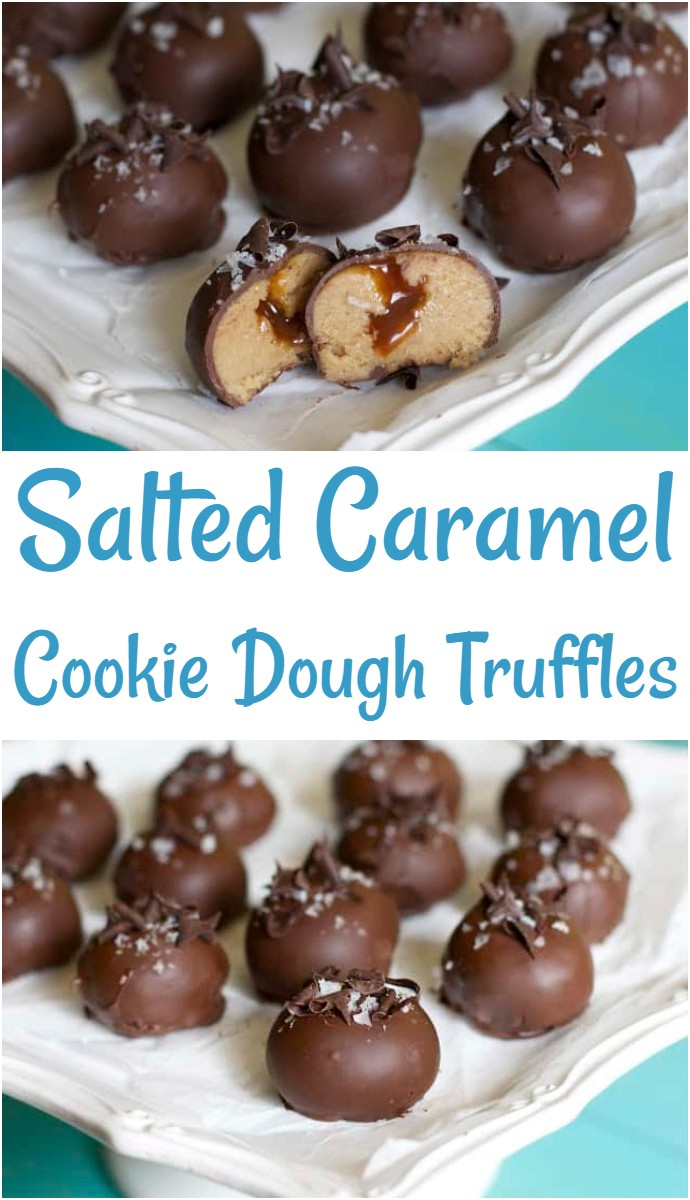 Salted Caramel Cookie Dough Truffles