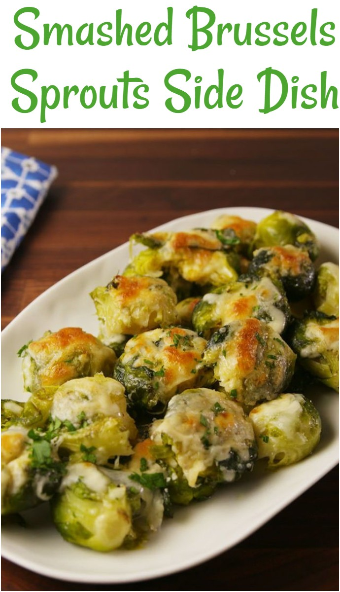 Smashed Brussels Sprouts Side Dish