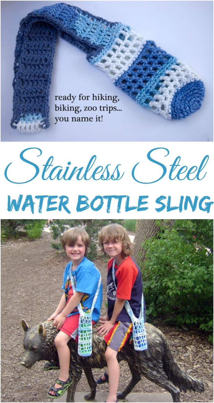 Stainless Steel Water Bottle Sling