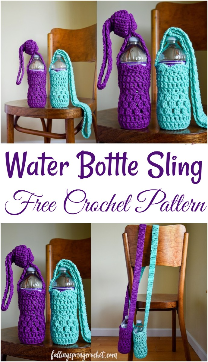 Water Bottle Sling Free Crochet Pattern