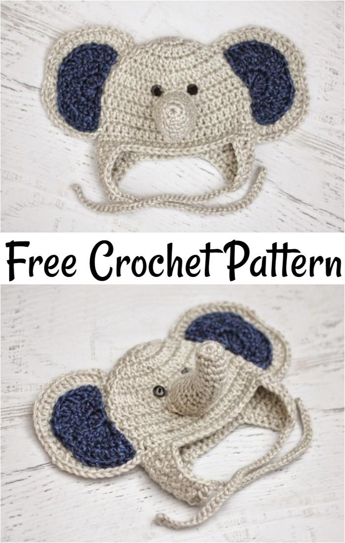 Free Crochet Baby Elephant Hat Pattern