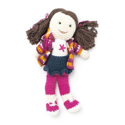 Free Crochet Back To School Lily Doll Pattern