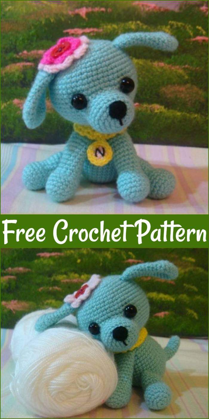 Free Crochet Curious Puppy