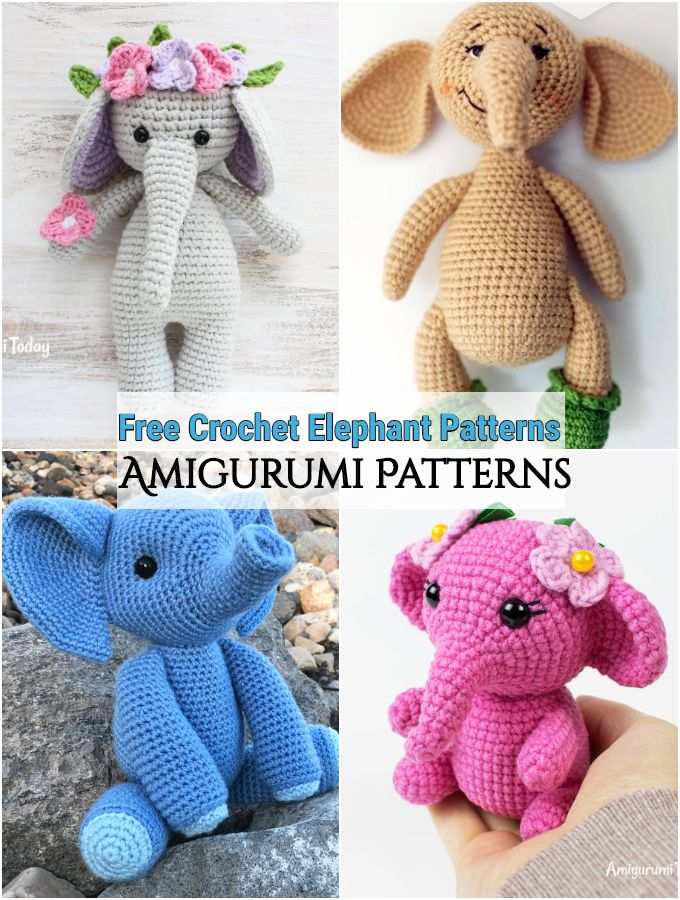Free Crochet Elephant Patterns
