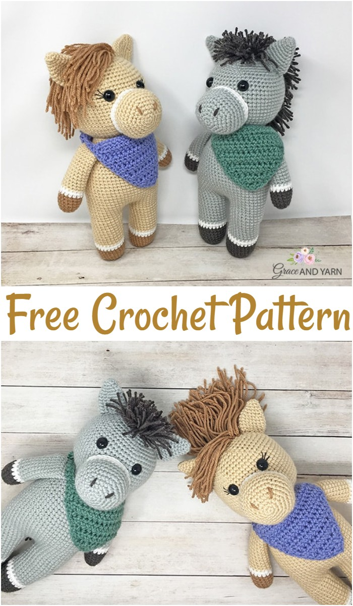 Free Crochet Horse And Donkey