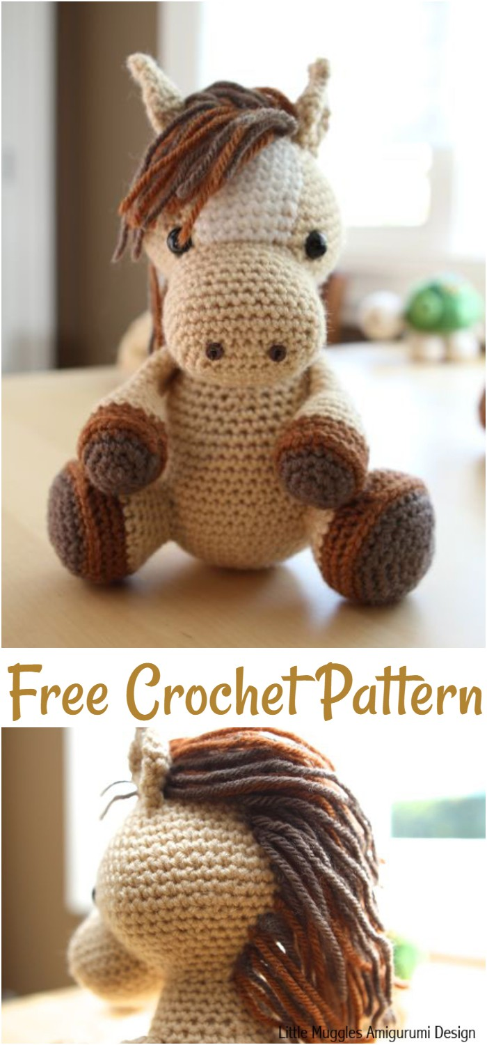 Free Crochet Lucky The Horse