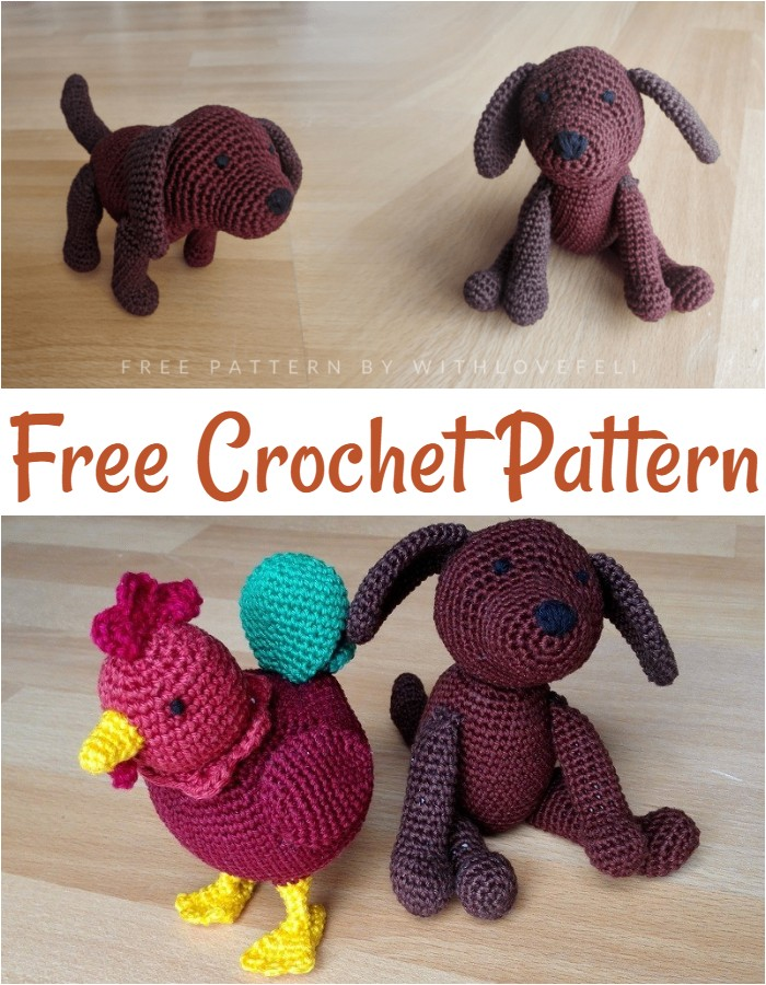 Free Pattern Dog For Chinese New Year