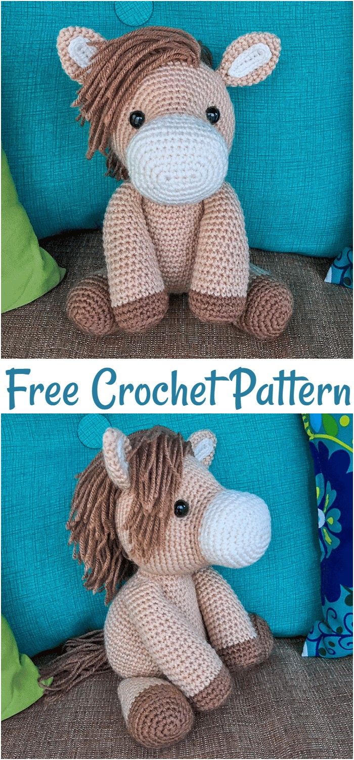 Heidi The Horse Free Amigurumi Pattern