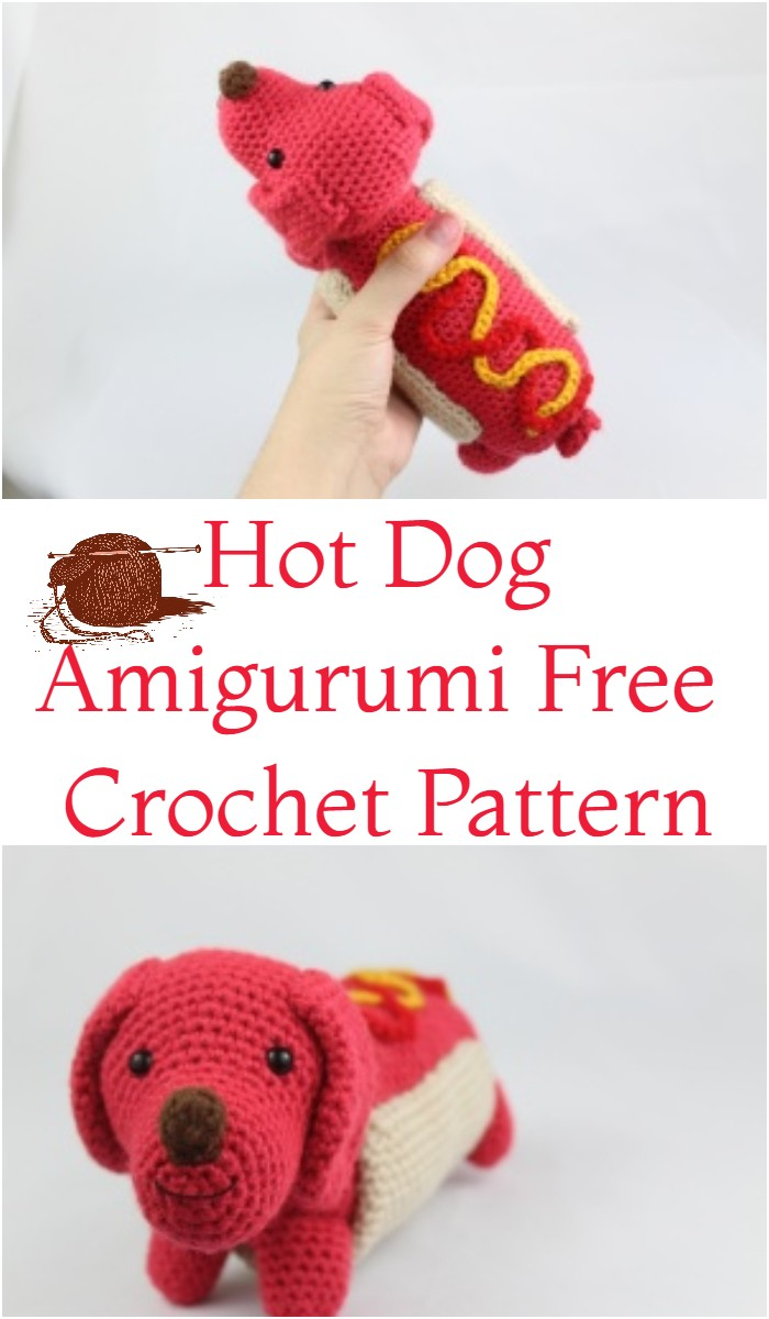 Hot Dog Amigurumi Free Crochet Pattern