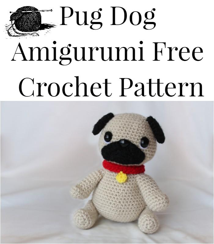 AMIGURUMI PATTERN/ tutorial (English) Amigurumi Pug Dog -