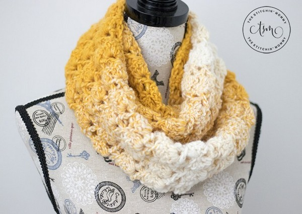 Blooming Autumn Infinity Scarf